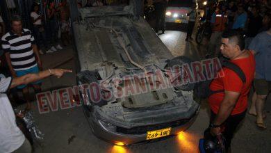 Photo of Se volcó vehículo en cercanías a la Unimagdalena