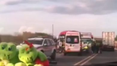 Photo of Bus de Brasilia choco contra furgón en la Vía Alterna y lo volteo