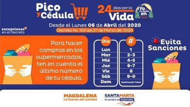 Photo of Alcaldía modifica pico y cédula para comprar alimentos en Santa Marta