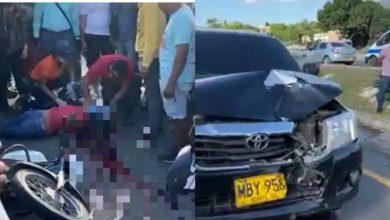Photo of Muere mujer tras ser arrollada por una camioneta cerca al aeropuerto de Santa Marta