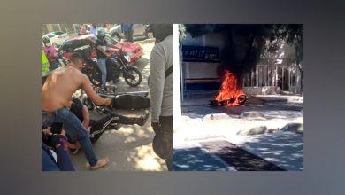 Photo of Capturan a un presunto atracador en Santa Marta y la comunidad le quema la moto