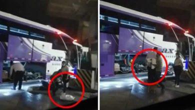 Photo of Envolvieron a un perro en un costal y lo metieron a la bodega de un bus
